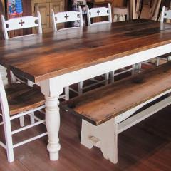 Table de cuisine rustique
