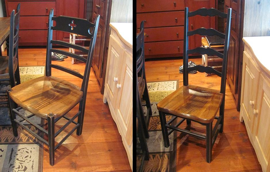 Chaise bellechasse et capucine